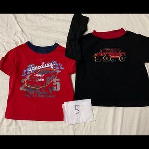 2 piece shirts and T-shirts size 5 years old
